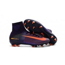 Botas de Fútbol Nike Mercurial Superfly 5 DF FG Violeta Naranja