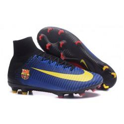 Nuevos Nike Mercurial Superfly V FG Zapatillas de Fútbol Barcelona FC Azul