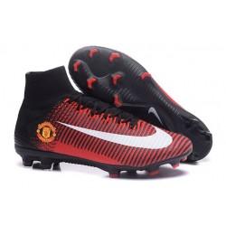 Botas de Fútbol Nike Mercurial Superfly 5 DF FG Manchester United Rojo