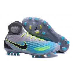 Nike Magista Obra 2 FG Zapatos de Futbol - Gris Azul