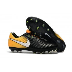 Nike Tiempo Legend VII FG Canguro Botas de Futbol - Negro Amarillo