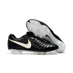 Nike Tiempo Legend VII FG Canguro Botas de Futbol - Negro Blanco