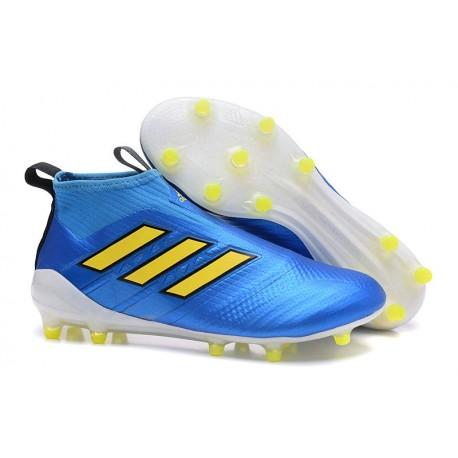 the best attitude 2c448 062d2 Barato 2017 Adidas ACE 17 Purecontrol FG Blanco Negro Amarillo Botas De  Futbol
