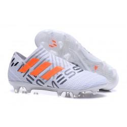 Nuevas Botas de Fubol Adidas Nemeziz Messi 17+ 360Agility FG Blanco Naranja Gris