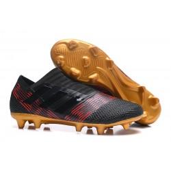 Nuevas Botas de Fubol Adidas Nemeziz Messi 17+ 360Agility FG Negro Oro