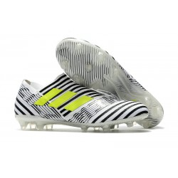 Bota de fútbol adidas Nemeziz Messi 17+ 360 Agility FG - Blanco Negro Amarillo