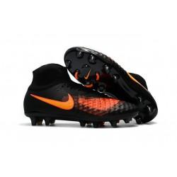 Nike Magista Obra II FG ACC Hombres Botas de Fútbo - Negro Naranja