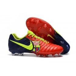 Nike Tiempo Legend VII FG ACC Zapatos de Futbol -Barcelona Rojo