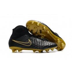 Nike Magista Obra II FG ACC Hombres Botas de Fútbo - Negro Oro
