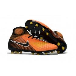 Nike Magista Obra II FG ACC Hombres Botas de Fútbo - Naranja Negro