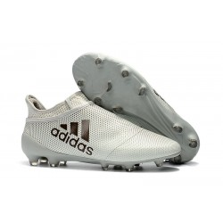 adidas X 17+ Purespeed FG Nuevo Zapatos de fútbol - Blanco Negro