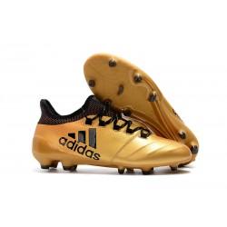 Botas de Fútbol Hombre adidas X 17.1 Fg - Oro Negro