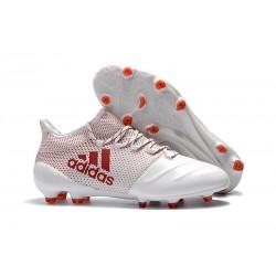 Botas de Fútbol Hombre adidas X 17.1 Fg - Blanco Rosso