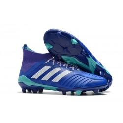 Botas de Fútbol Adidas Predator 18.1 Fg para Hombre - Azul Blanco