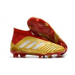 Adidas Predator 18+ FG Botas de Futbol - Oro Rojo