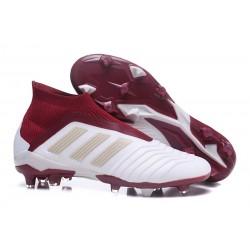 Adidas Predator 18+ FG Botas de Futbol - Blanco Rojo