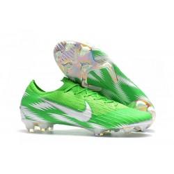 Zapatos de fútbol 2018 Nike Mercurial Vapor 12 FG - Verde Plata