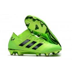 adidas Nemeziz Messi 18.1 FG Bota de Fútbol Copa Mundial - Verde Negro