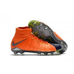 Nike Botas de Fútbol para Hombre Hypervenom Phantom DF FG- Naranja Negro