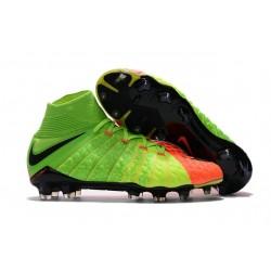 Nike Botas de Fútbol para Hombre Hypervenom Phantom DF FG- Naranja Verde
