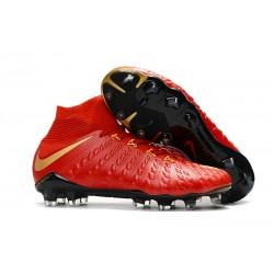 Nike Botas de Fútbol para Hombre Hypervenom Phantom DF FG- Rojo Oro