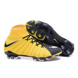 Nike Hypervenom Phantom III DF FG Zapatillas de Fulbol Amarillo Negro