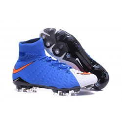 Nike Hypervenom Phantom III DF FG Zapatillas de Fulbol Blanco Azul
