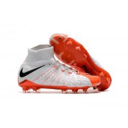 Nike Zapatos de Fulbol Hypervenom Phantom 3 DF FG Blanco Naranja
