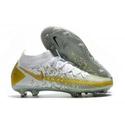Botas de Fútbol Nike Phantom GT Elite FG Blanco Oro Gris