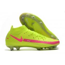 Botas de Fútbol Nike Phantom GT Elite FG Verde Rosa