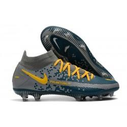 Nike Zapatos Nuevo Phantom GT Elite DF FG Armada Gris Amarillo