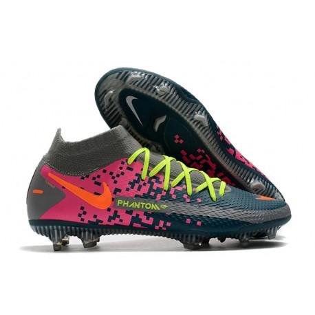 Nike Zapatos Nuevo Phantom GT Elite DF FG Armada Gris Rosa