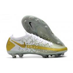 Botas de Fútbol Nike Phantom GT Elite FG Blanco Oro
