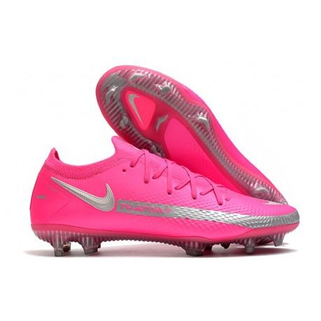 Botas de Fútbol Nike Phantom GT Elite FG Rosa Plata