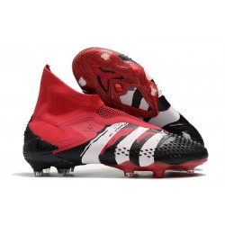adidas Botas de fútbol Predator Mutator 20+ FG Negro Rosso Blanco