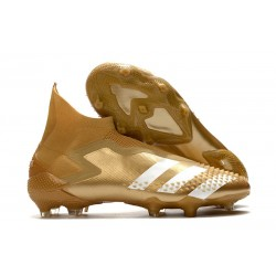 adidas Botas fútbol Predator Mutator 20+ FG Dorado metalizado Blanco
