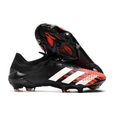 Bota adidas Predator Mutator 20.1 Low Cut FG Negro Blanco Rojo