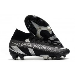 Nike Mercurial Superfly7 Elite DF FG Negro Argento