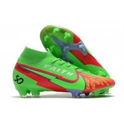 Nike Mercurial Superfly7 Elite DF FG Verde Rojo