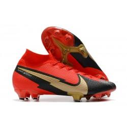 Nike Mercurial Superfly7 Elite DF FG Rojo Negro Blanco