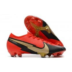 Botas Nike Mercurial Vapor 13 Elite FG Rojo Negro Oro