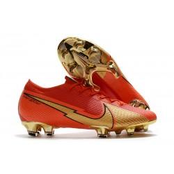Botas Nike Mercurial Vapor 13 Elite FG CR100 Ronaldo Rojo Oro