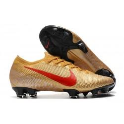 Botas Nike Mercurial Vapor 13 Elite FG Oro Rojo