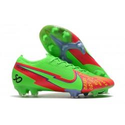Botas Nike Mercurial Vapor 13 Elite FG Verde Rojo