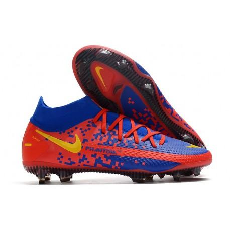 Nike Zapatos Nuevo Phantom GT Elite DF FG Azul Rojo Amarillo