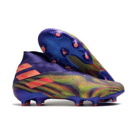 adidas Zapatos de Fútbol Nemeziz 19+ FG Tinta Energia Rosa Senal Verde