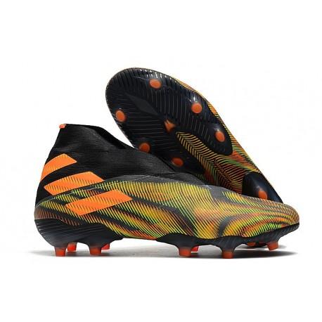 adidas Zapatos de Fútbol Nemeziz 19+ FG - Verde Naranja Negro