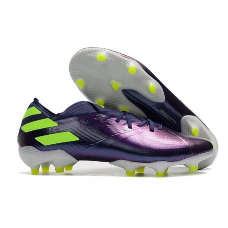 Zapatos de fútbol adidas Nemeziz 19.1 FG Violeta Verde
