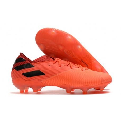 Zapatos de fútbol adidas Nemeziz 19.1 FG Signal Coral Negro Rojo Gloria