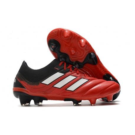 Adidas COPA 20.1 FG Bota de Futbol Cesped ARTIFICIAL Rojo Blanco Negro